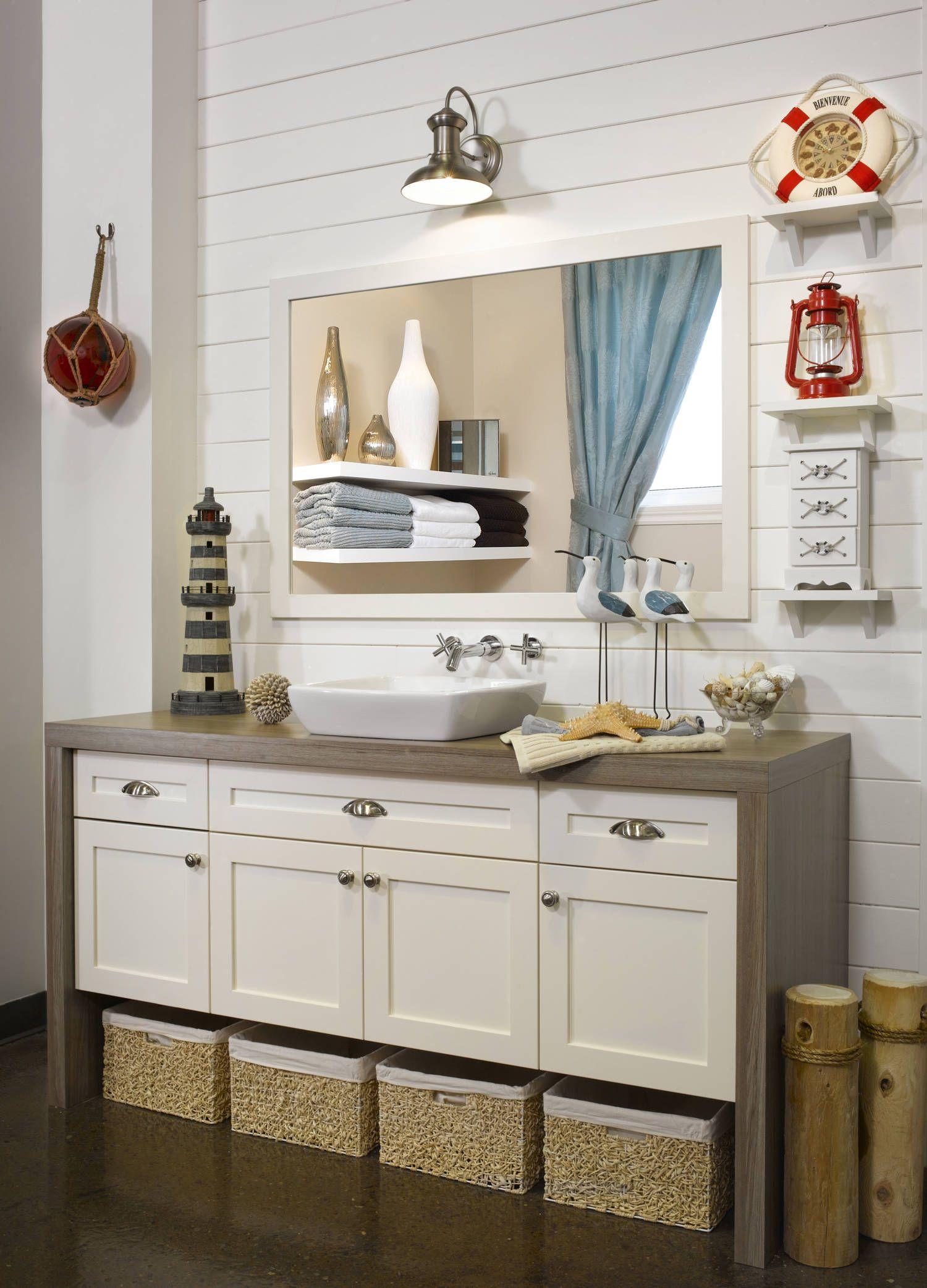 cape cod vanite de salle de bain en polyester collection les polyesters