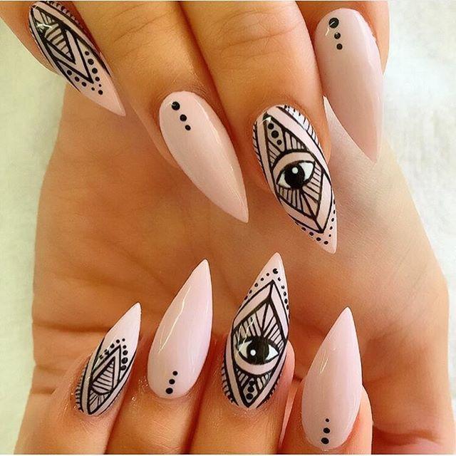 All Seeing Eye Stiletto Nail Design Claws Pinterest Stilettos