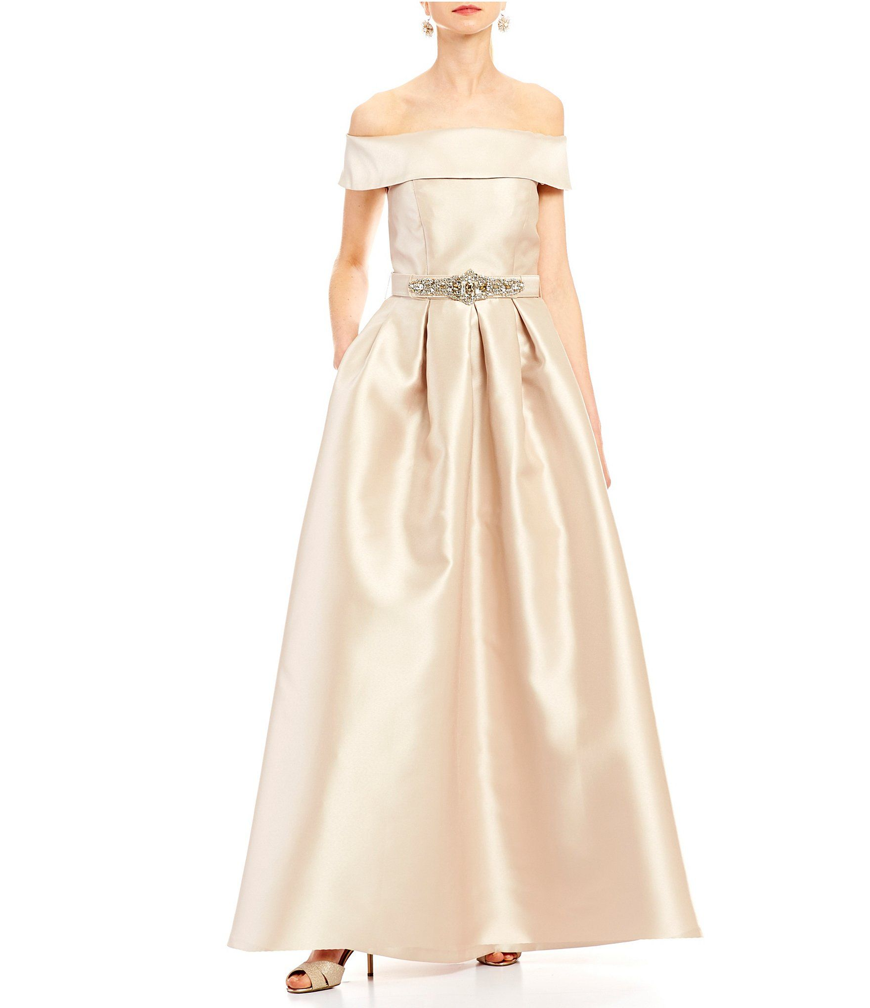 Eliza j offtheshoulder ball gown dillards ball gowns and