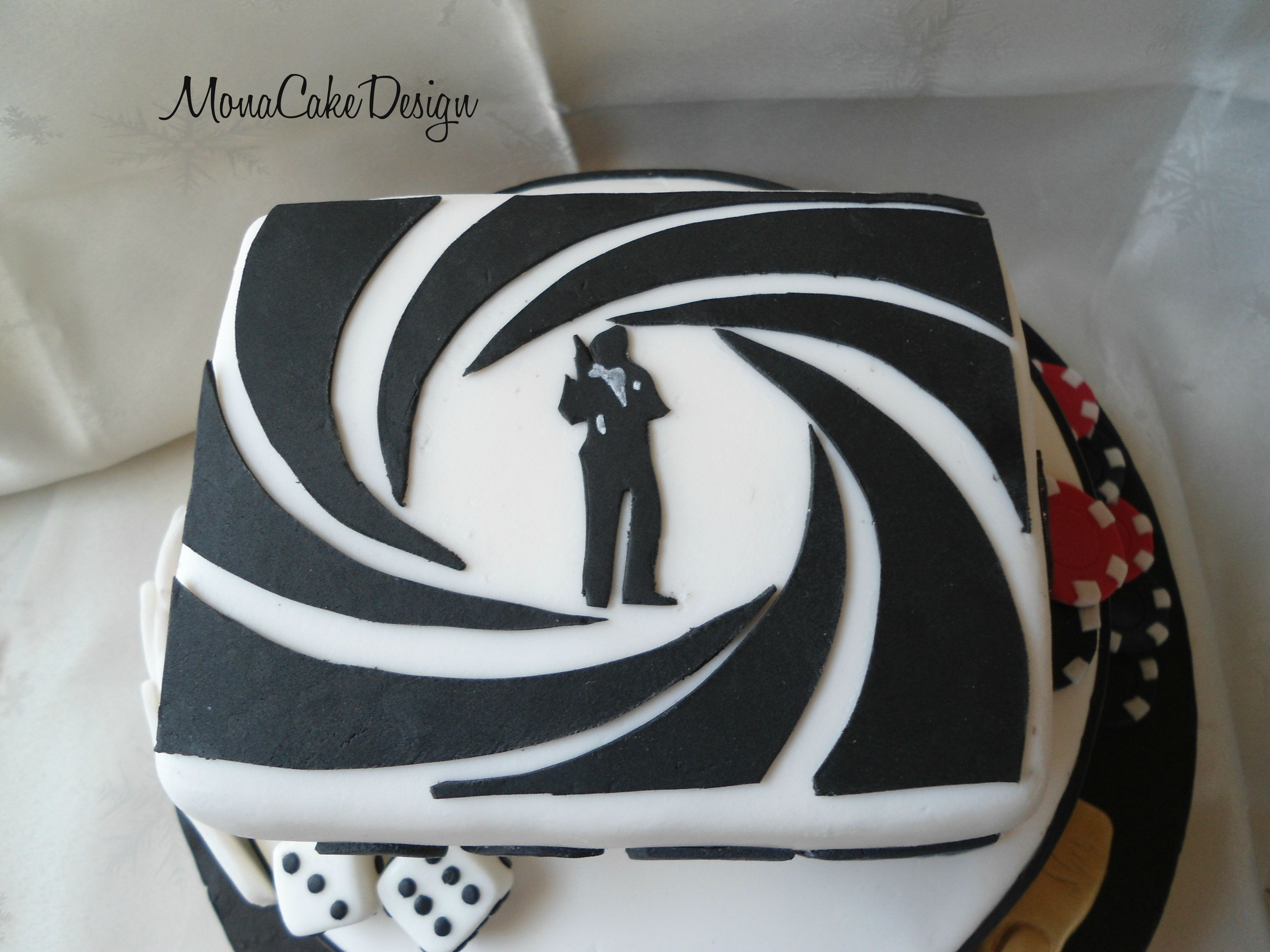 James Bond Cake MonaCakeDesign Pinterest