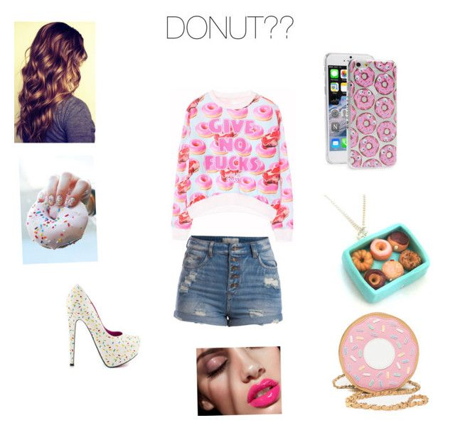 """National donut day"" by lizbeth-lovesu ❤ liked on Polyvore featuring beauty, Pieces, TaylorSays and Skinnydip"