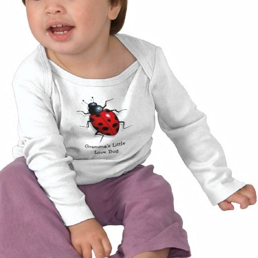 Life-like ladybug: Gramma's Little Love Bug: Art Tshirts: Words are customizable.