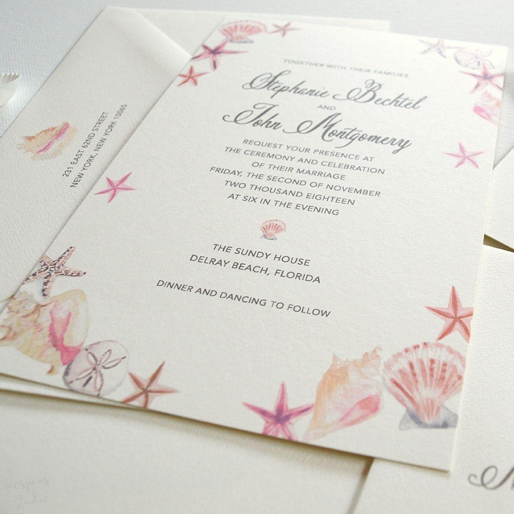 Seashell Wedding Invitations