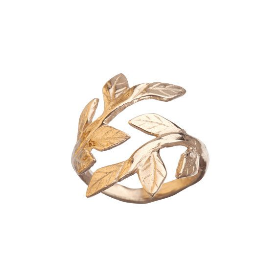 Wrap Your Laurels Around Me Ring in 18k Gold by xChupi on Etsy, $98.00