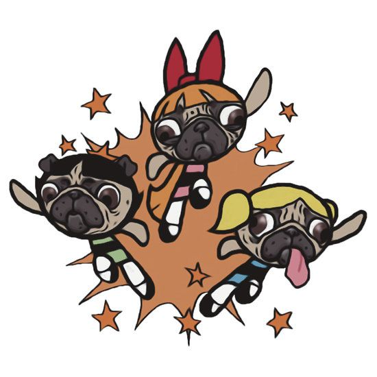 The Power Pug Girls T Shirt By Pretentiousart Pugs Pug Love