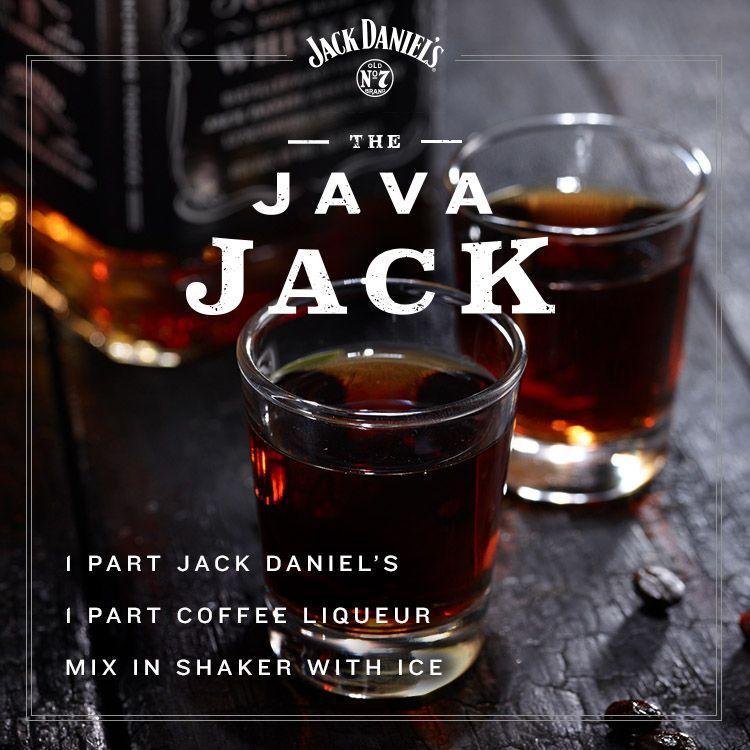 Shot of Jack meets cup of Joe.