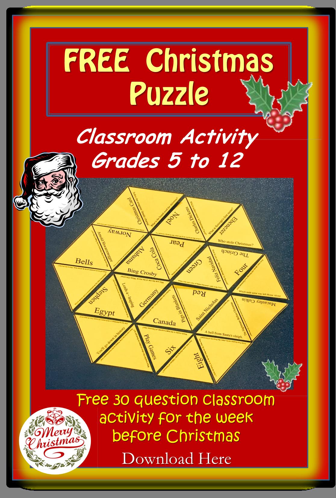 Christmas Quiz Puzzle