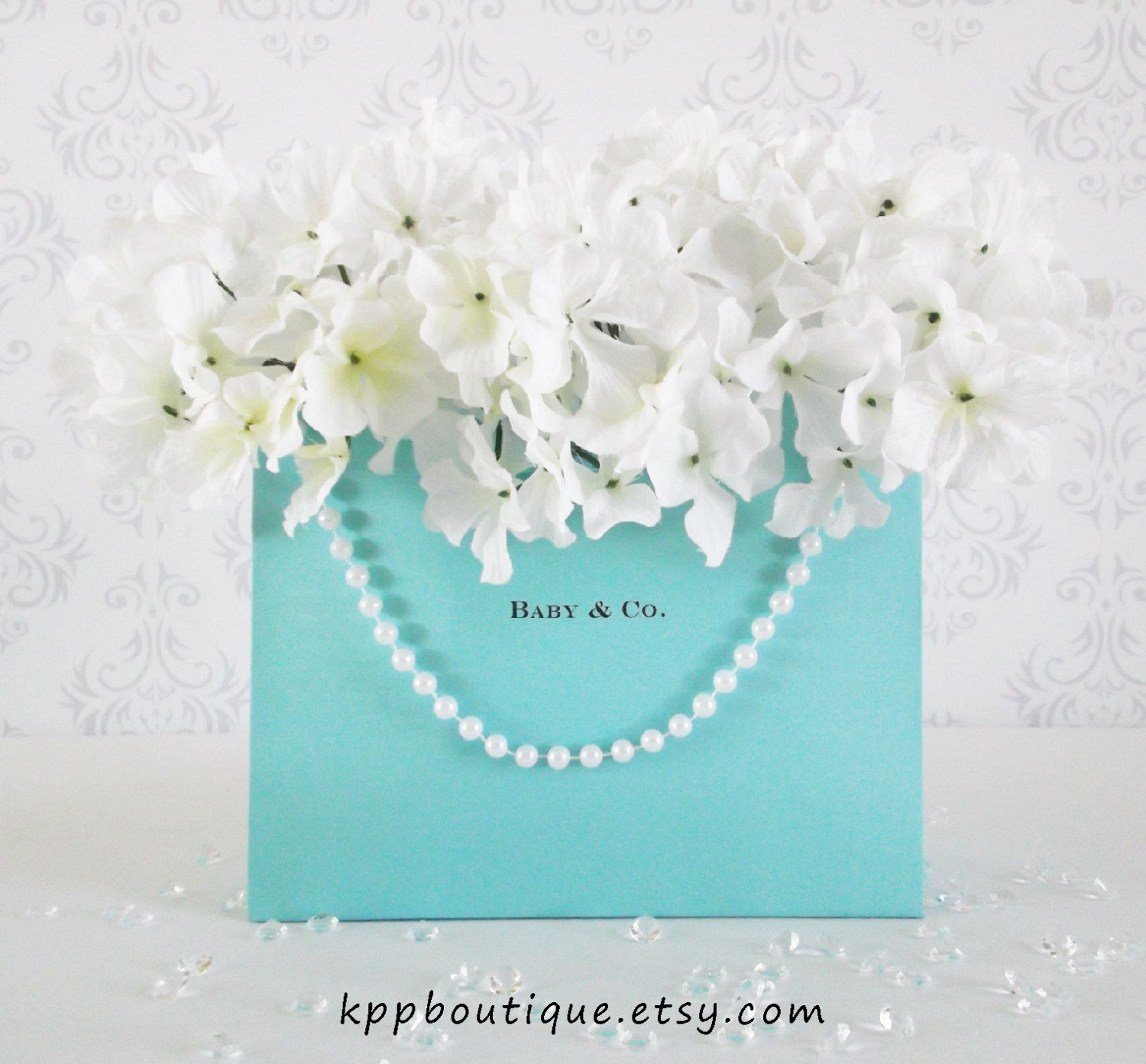 4bdc72bd0f Tiffany & Co. Inspired Personalized Gift Bags (S/2). $7.50, via Etsy ...