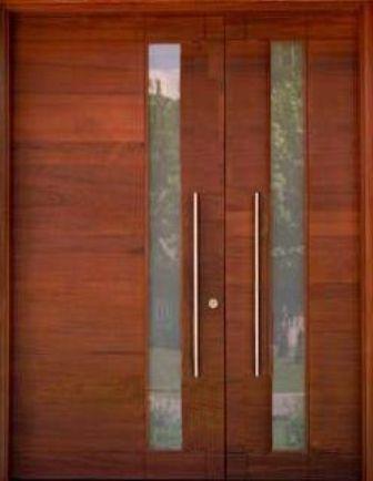 M052 puerta y lateral de madera portones y puertas for Puertas principales rusticas madera