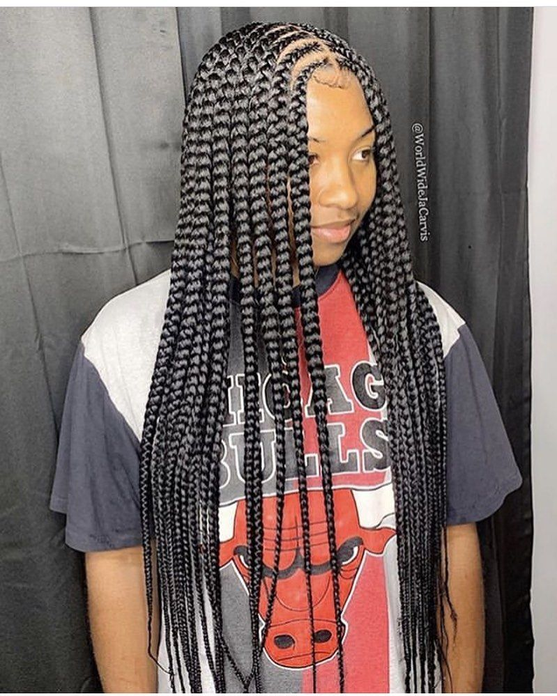 naturalhair #boxbraids #plaits #knotlessbraids #blackhairstyles