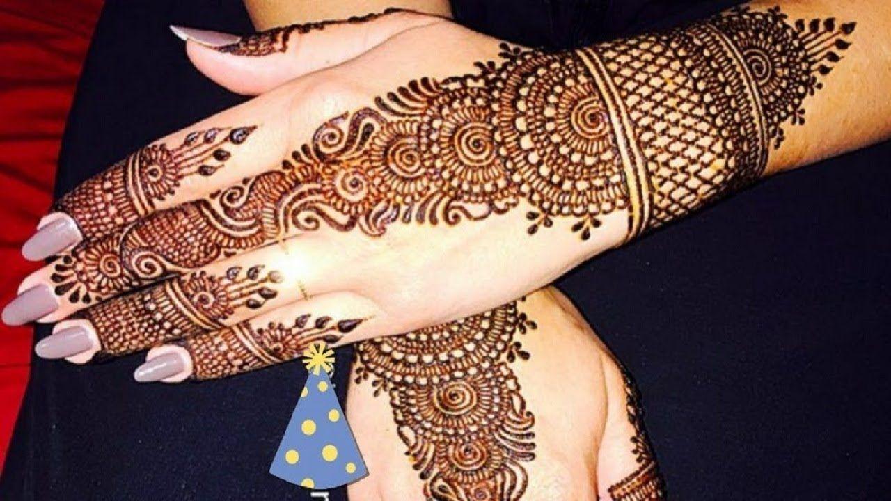 Simple Easy Arabic Henna Mehndi Design Stylish Back Hand