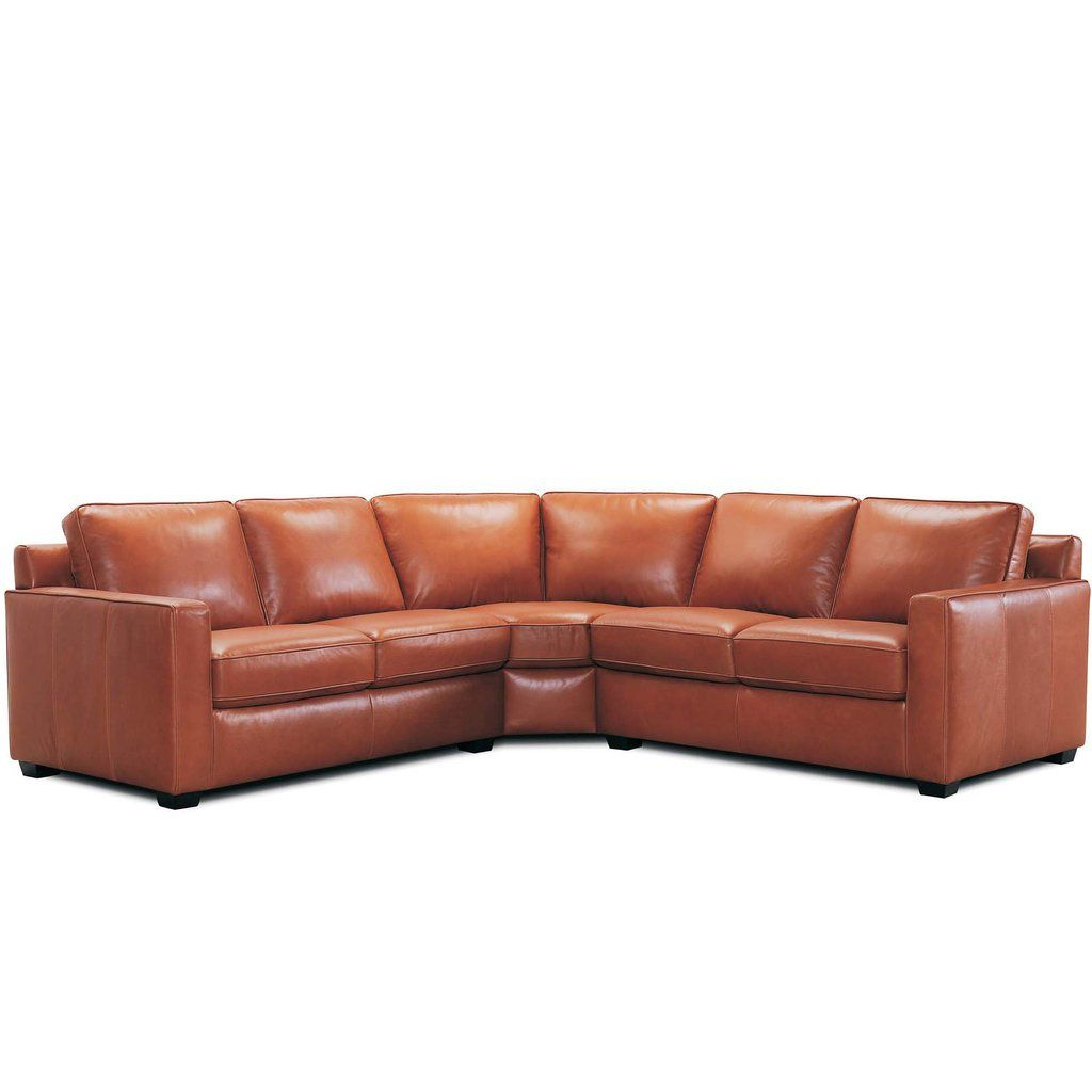Hendrixs Corner Sofa In Leather Or Fabric With Box Arm Corner