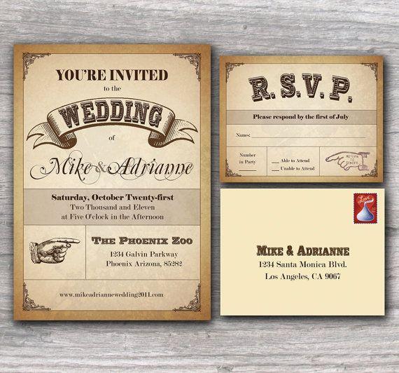 Unique Wedding Invitation Samples: Cute! #wedding #invitations