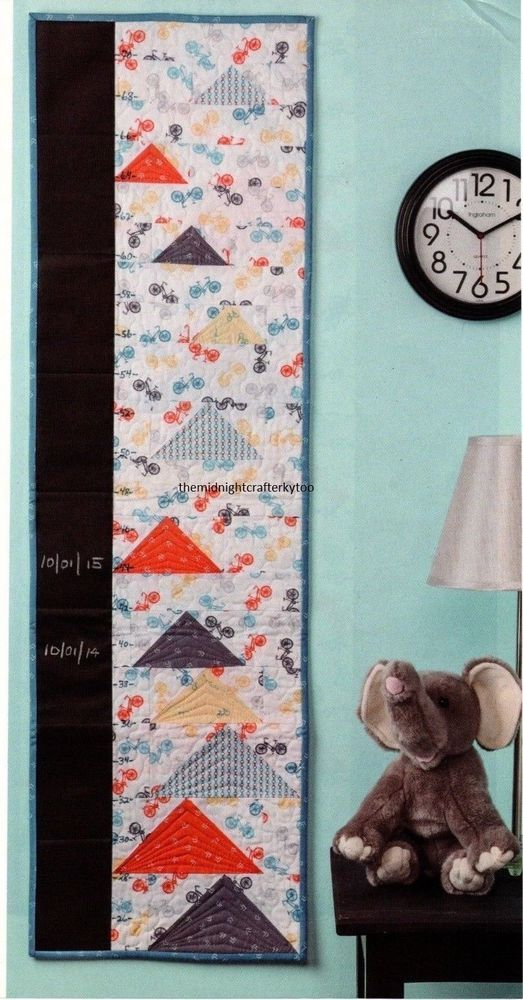 Up Up Away Growth Chart Quilt Pattern Pieced Bg Children Quilts