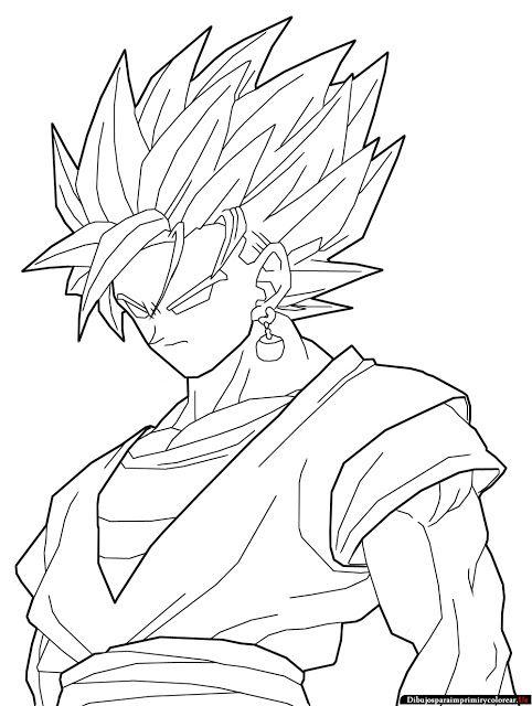 Dibujos De Dragon Ball Z Para Imprimir Y Colorear Dibujo De Goku Dibujos De Goku Black Dragon Para Dibujar