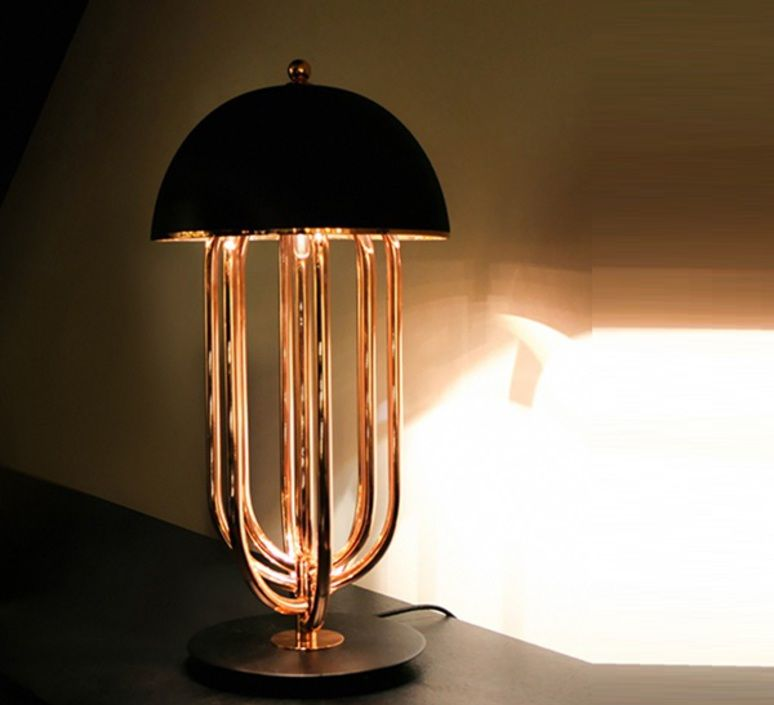 Turner studio delightfull delightfull turner table gold black luminaire lighting design signed 25620 product