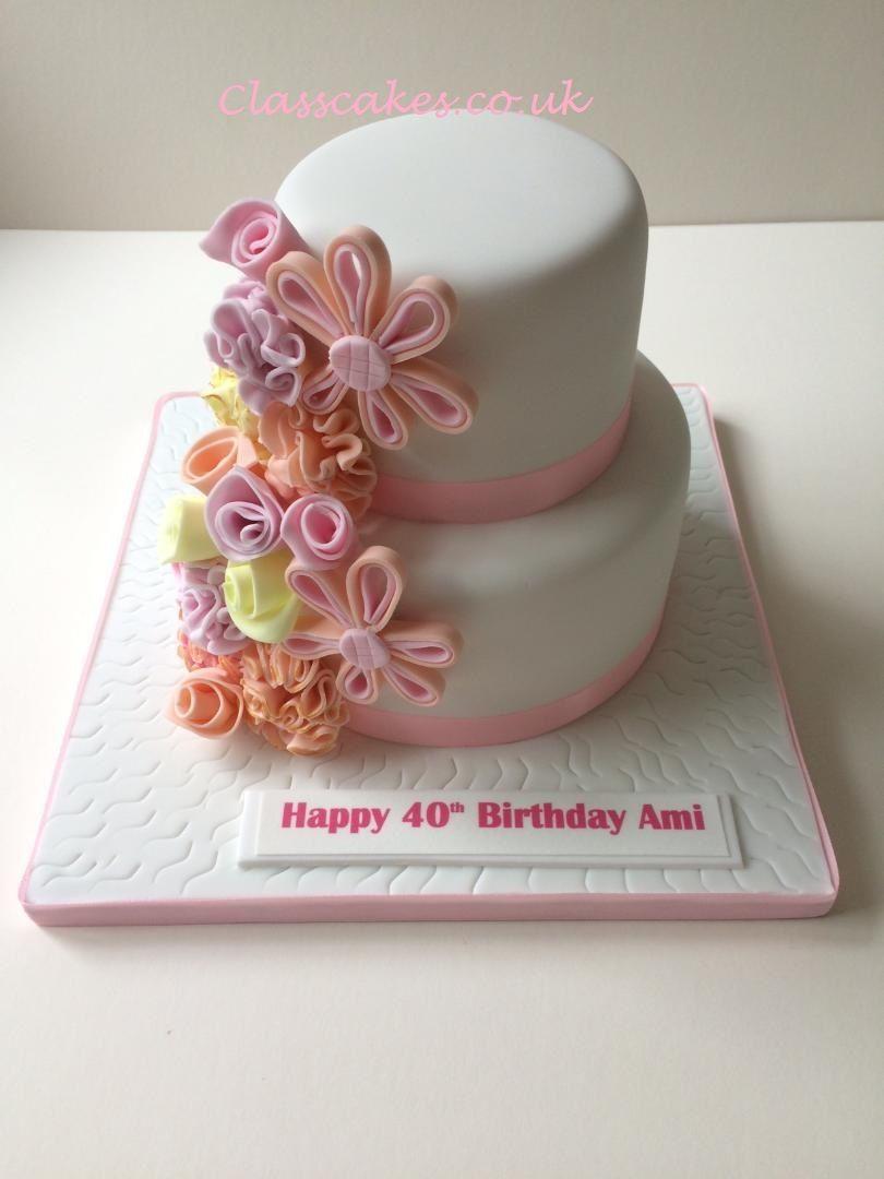 Fantasy flower 40th birthday cake Birthday cakes for