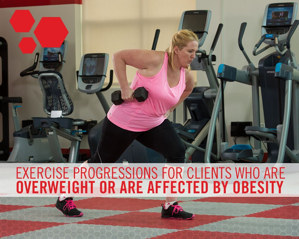 Exercise Progressions for Clients Who Are Overweight or ...