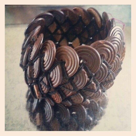 Coconut wood bracelet 3blue.blogspot.com