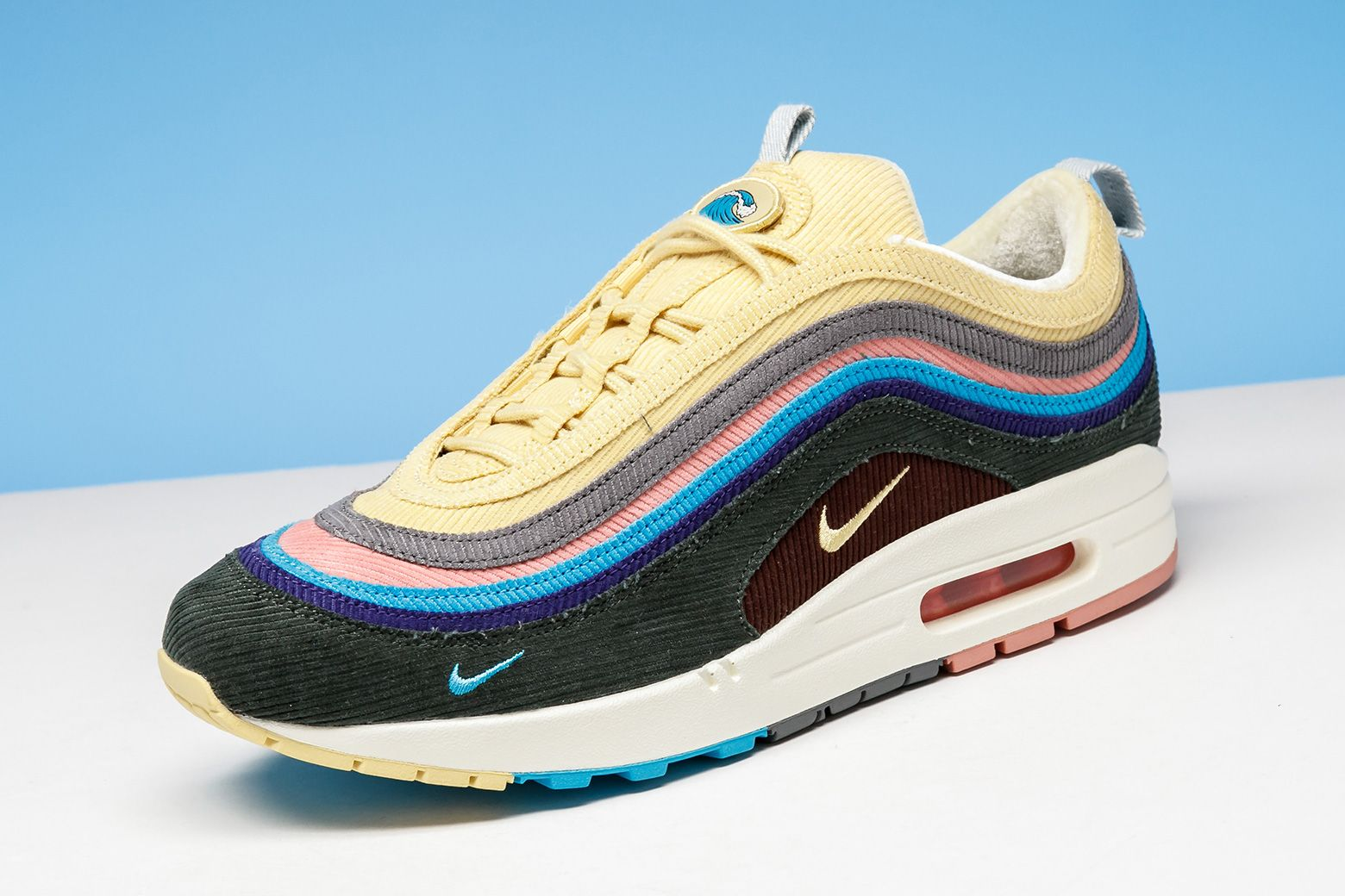 brand new 0c757 69582 The Sean Wotherspoon x Nike Air Max 97 1 Hybrid gets a fusion of Air