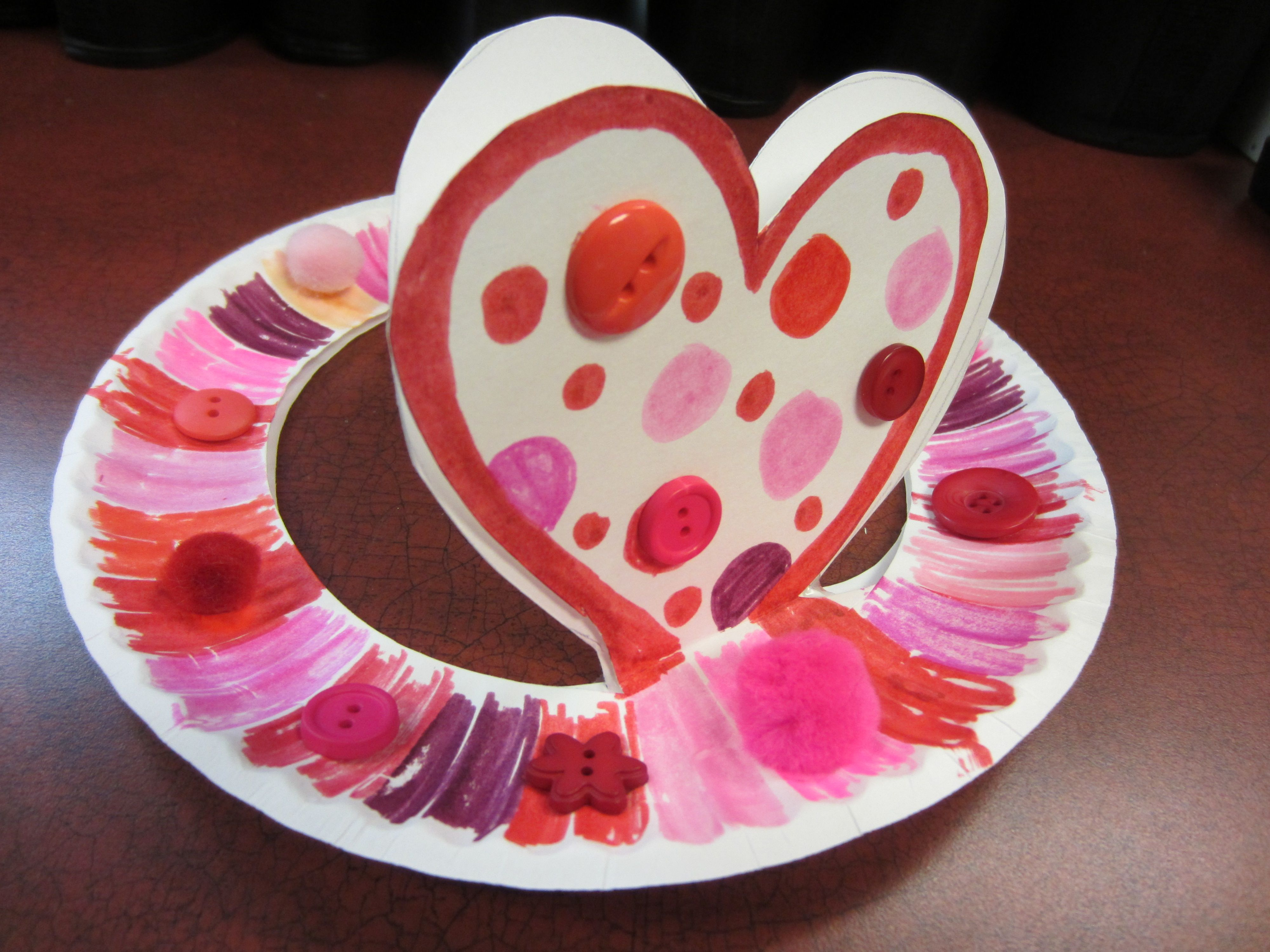 We Made Paper Plate Heart Hats For Our Valentine Themed Big Kid