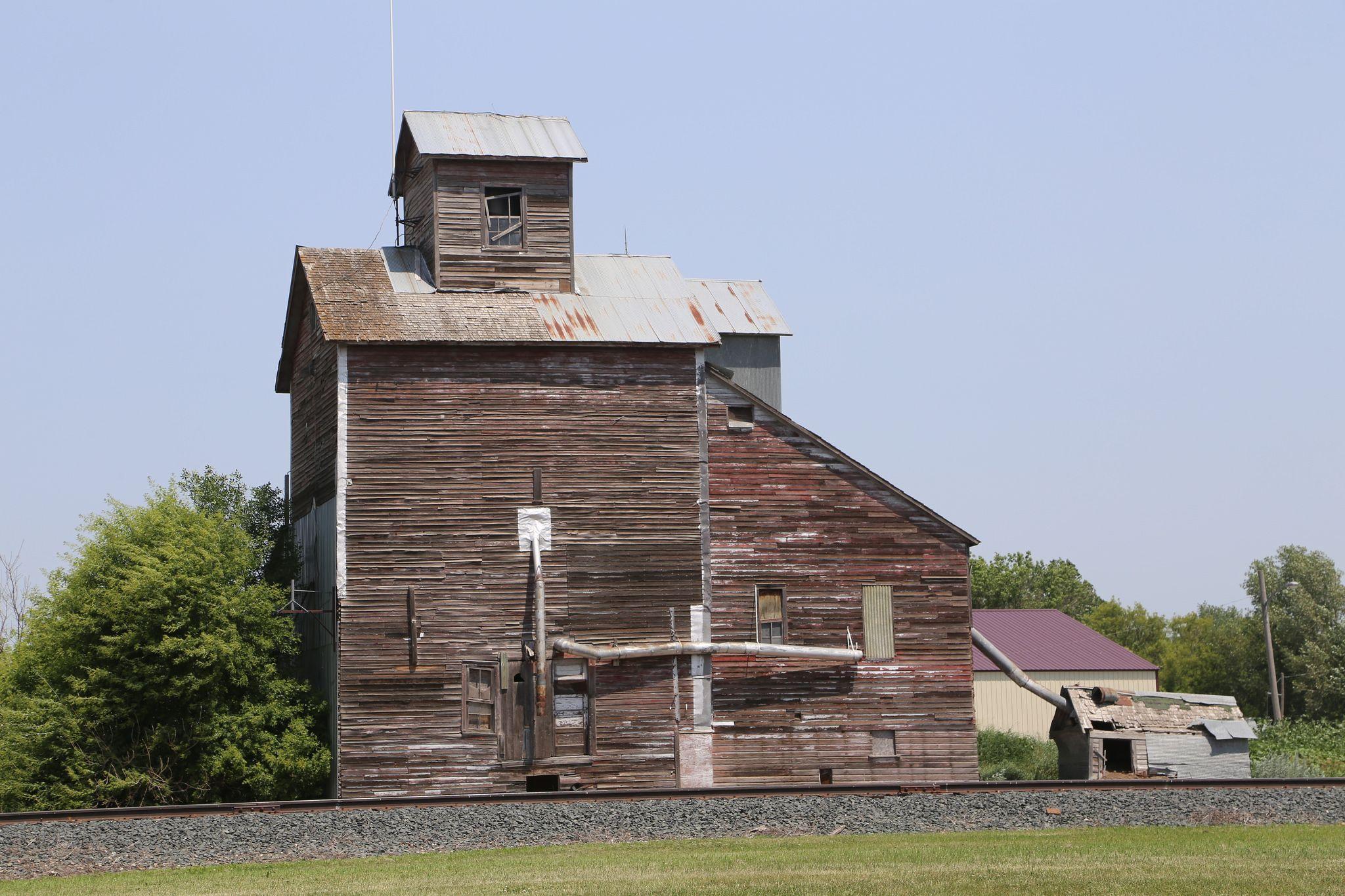 Kulm North Dakota Grain Elevator Lamoure County ND North - Us grain elevator map