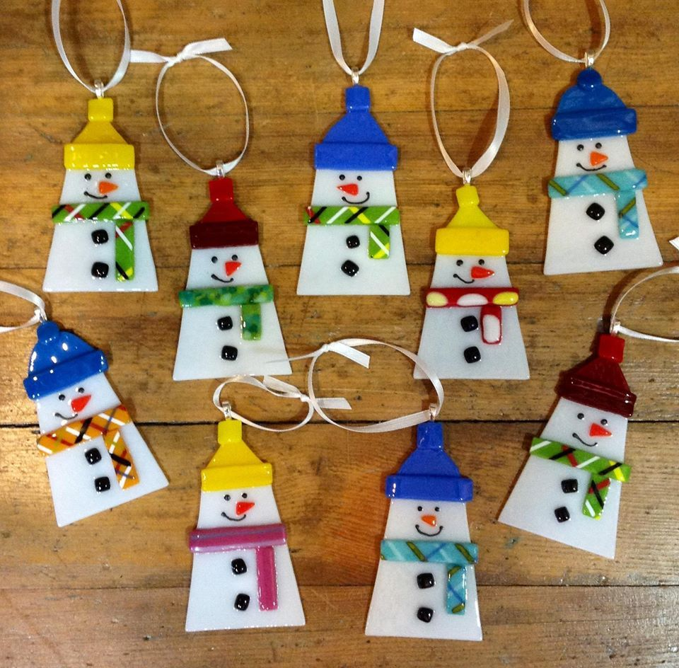Snowmen christmas ornaments - Fused Glass Christmas Ornaments Google Search