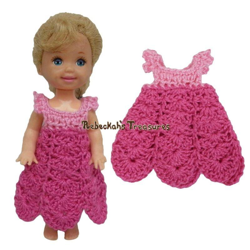 Dressy Dress 10 ~ Pretty in Pink Free Crochet Pattern for Children ...