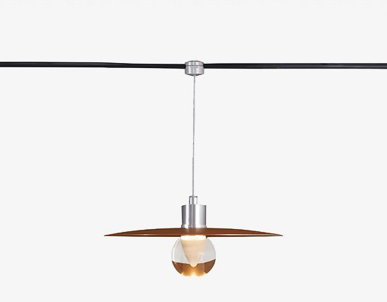 Tegan Lighting Exton Cable Pendant Dysk Shade Sphere