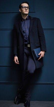 f38eb1fafbe Пальто мужское черное классическое в интернет-магазине Шопоголик