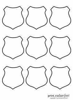 Police Badge Coloring Pages With Images Community Helpers