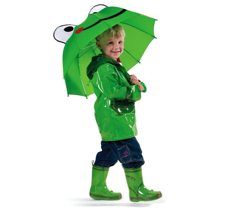 Frog Umbrella Kids Rain Gear Raincoat Kids Boys Rain Gear