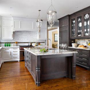 White and dark cabinetry