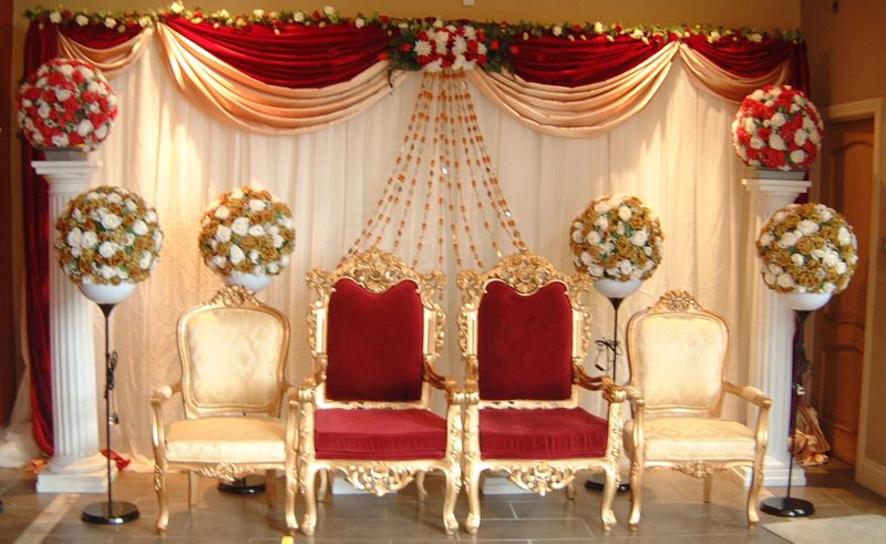 big fat indian wedding decors and design stage decoration and backdrop - Indian Wedding Decorations