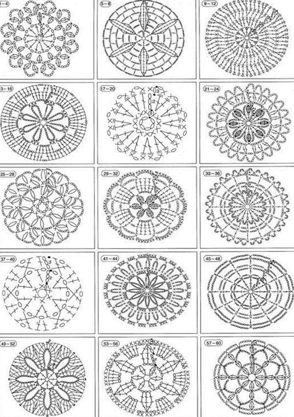 Вязание - узоры (крючок) | Graficos crochet | Pinterest | Croché ...
