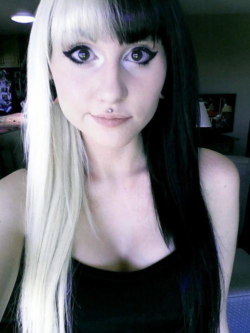 Black and white hair | Hair Ideas | Pinterest | White hair, Black ...
