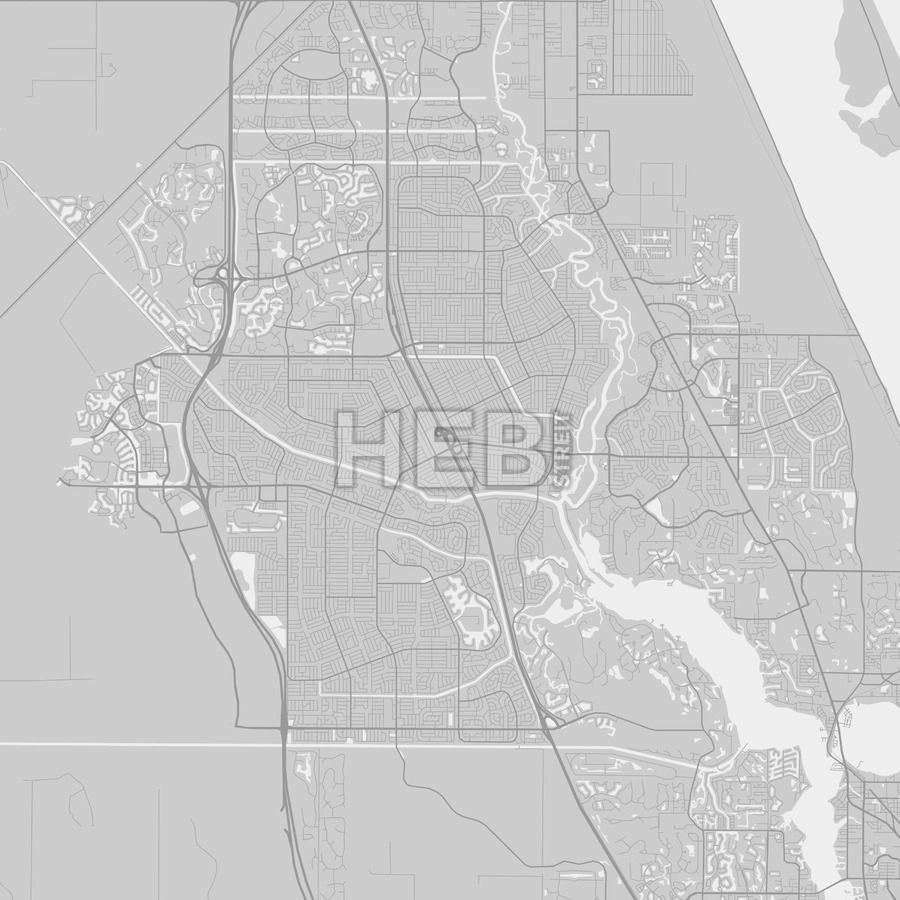 Map Of Port St Lucie Florida.Port St Lucie Florida Area Map Grey Ui Ux