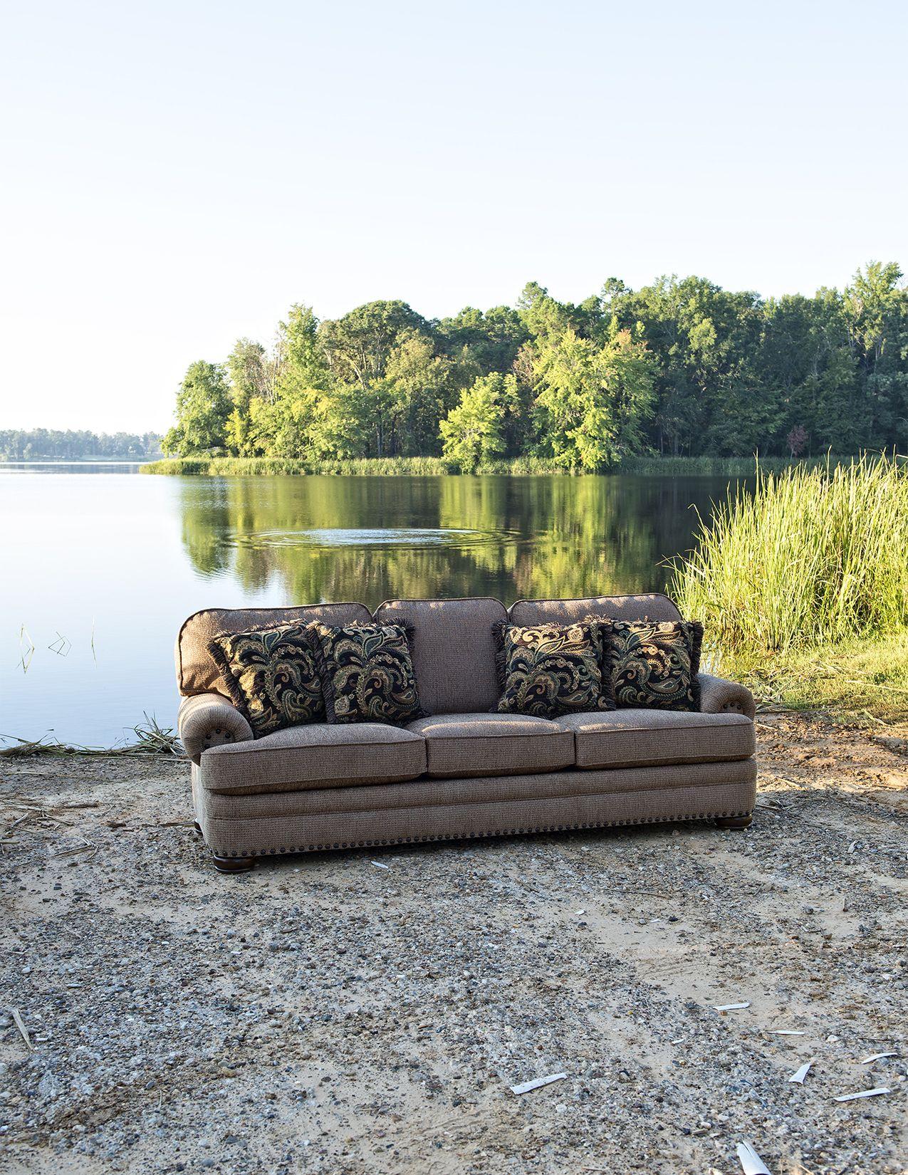 Mayo Furniture 3620 Fabric Sofa Knickknack Old Gold Carters