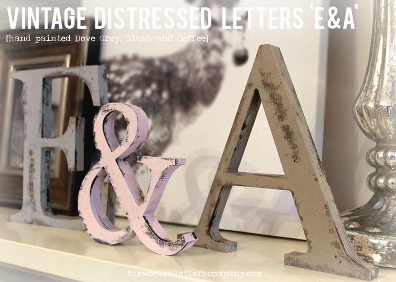 Classic serif font vintage aged wooden letters sitting for Living room 7 letters