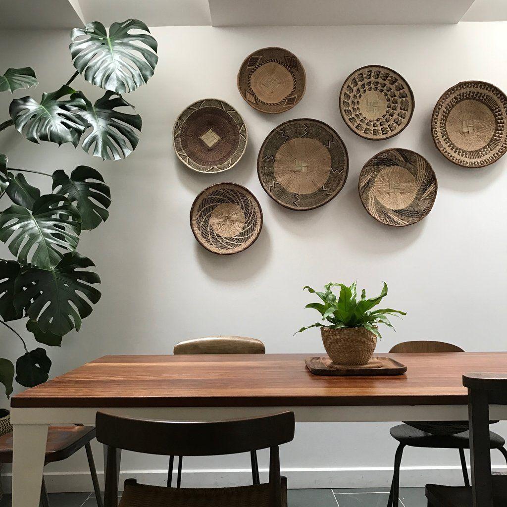 Medium Vintage African Binga Basket 1 Baskets On Wall African Wall Art Decor