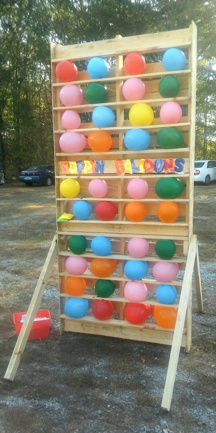 diy dartless balloon pop game double sized pallet extra pallet