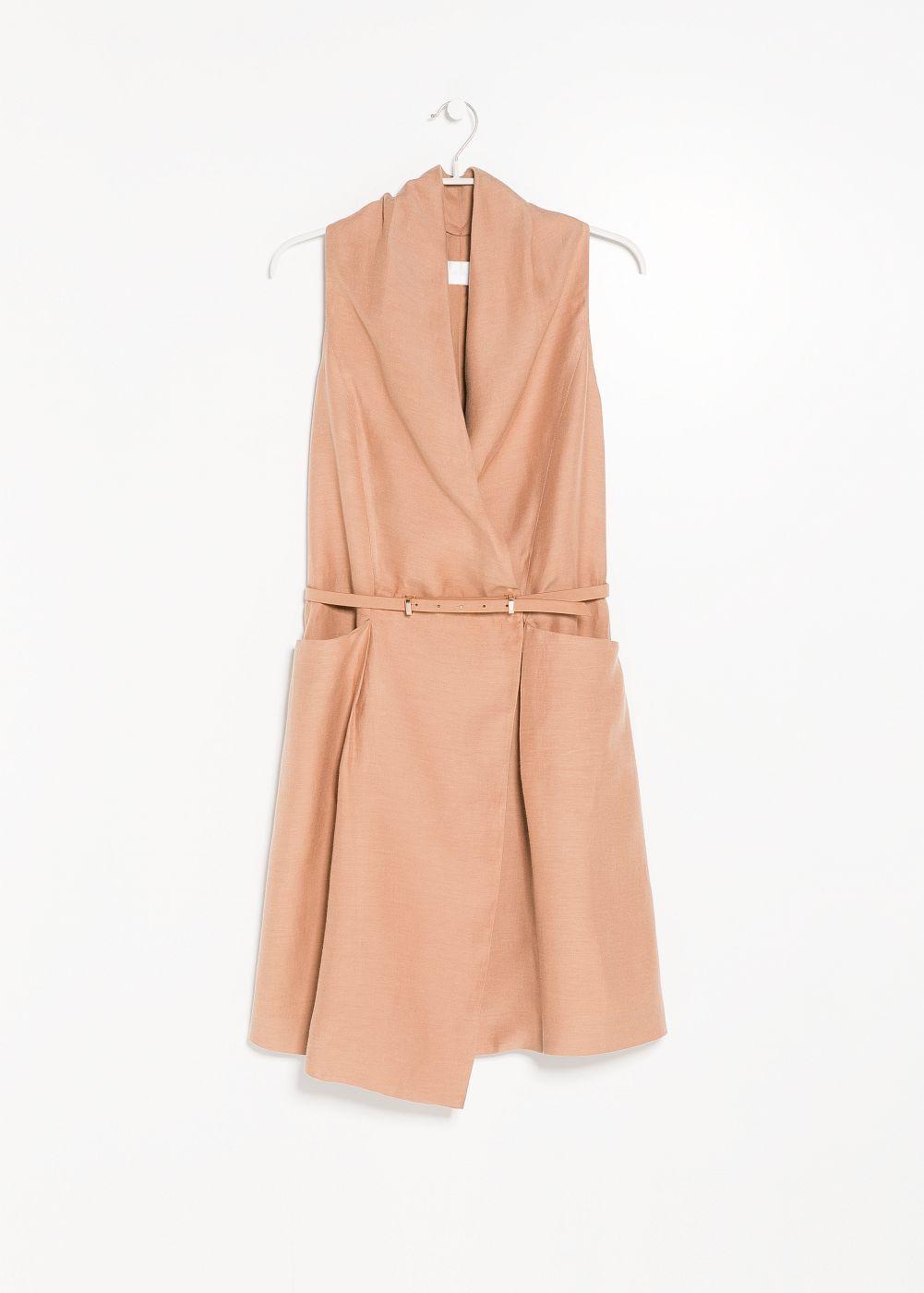 f5c154ba7dd Premium - linen-blend wrap dress - Women