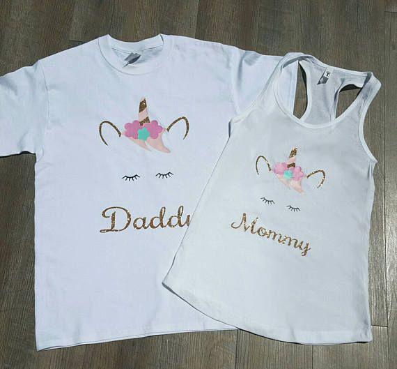 86cc33571b96 Unicorn Mommy & Daddy shirts 2 PC set Unicorn Mom shirt | Mia's 1st ...