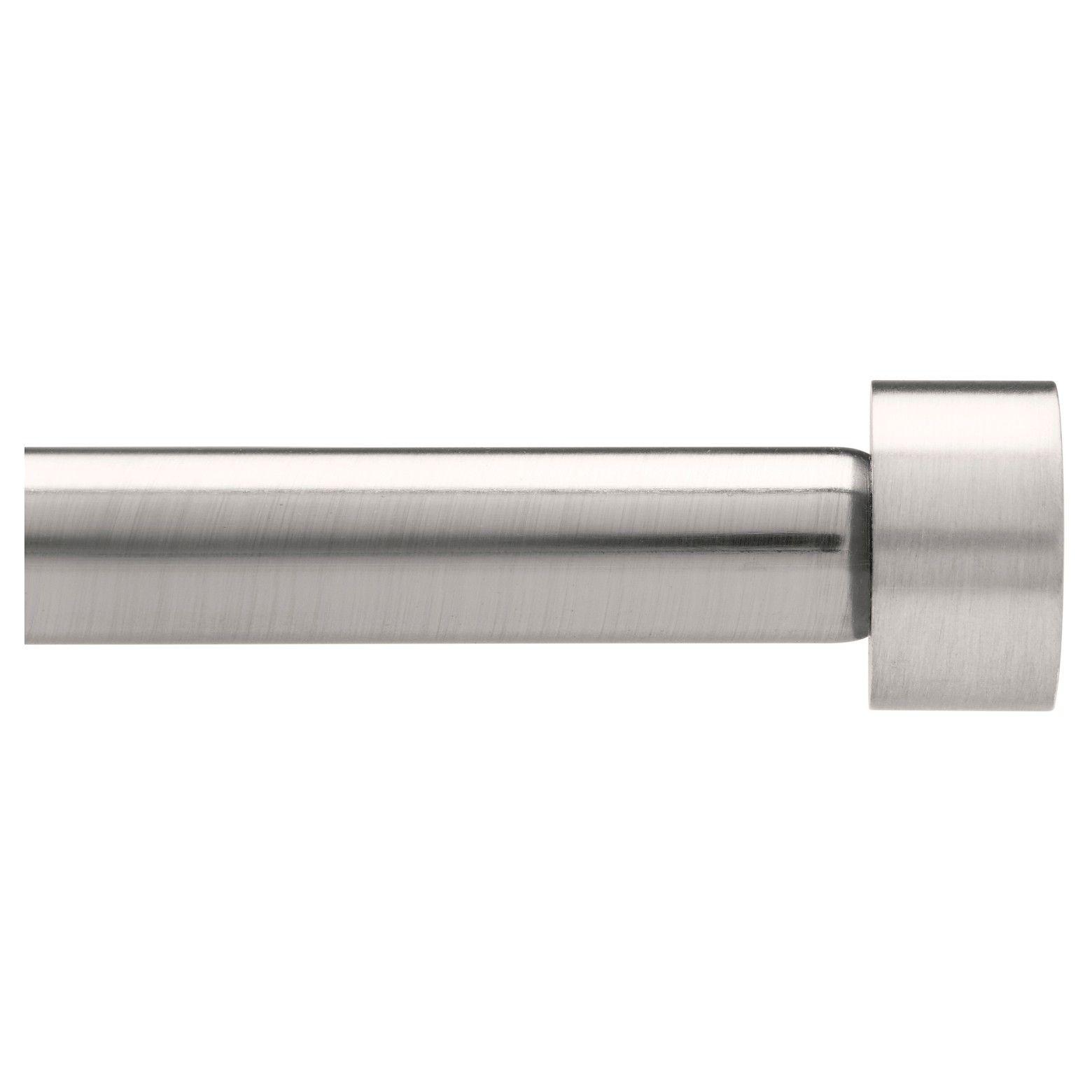 Dauntless Curtain Rod Set Brushed Nickel 1 66 X120 Loft By