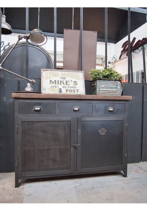 Exemple de fabrication buffet industriel vintage industrial