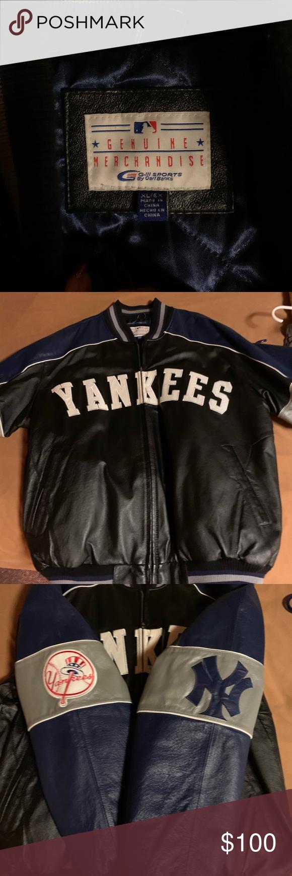 New York Yankee Leather Jacket Leather Jacket New York Yankees Jackets [ 1740 x 580 Pixel ]