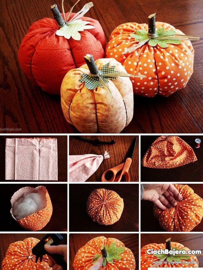 materiałowe dekoracje na Halloween Święto dziękczynienia