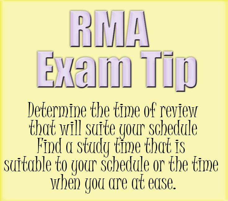 Registered Medical Assistant (RMA) Certification Exam Tip: Determine ...