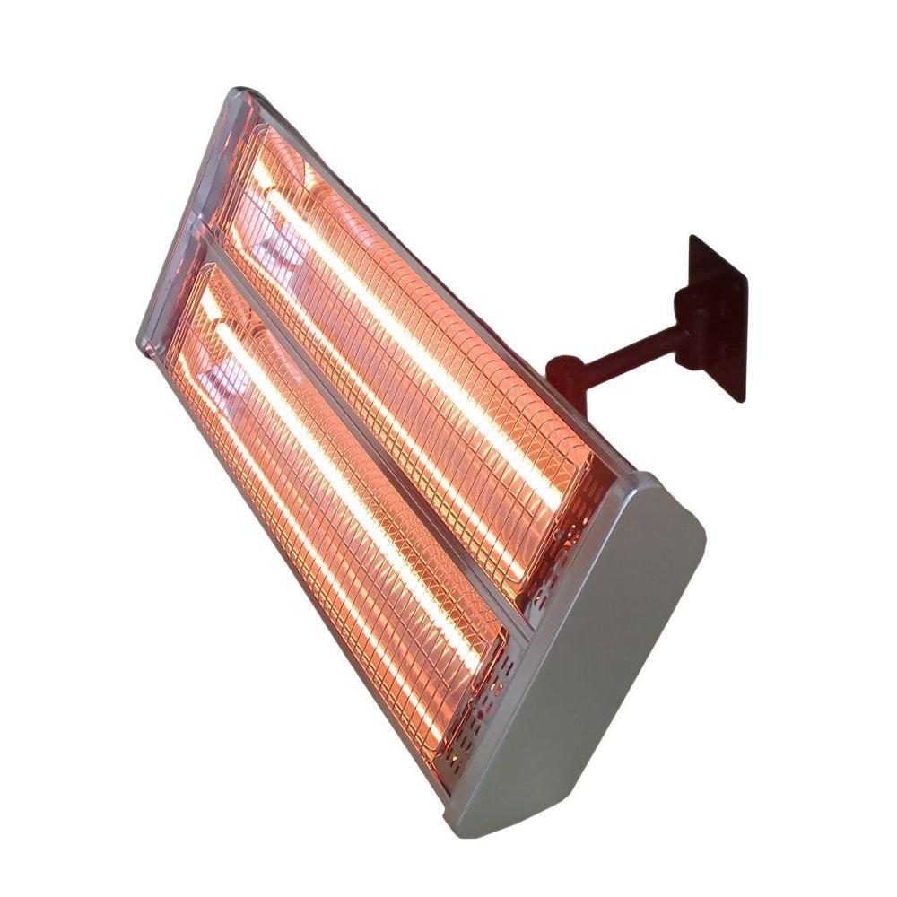 Az Patio Heaters 1 500 Watt Infrared Double Electric Wall Mount Electric Patio Heater Hil 1531 In 2020 Wall Mounted Heater Patio Heater Propane Patio Heater