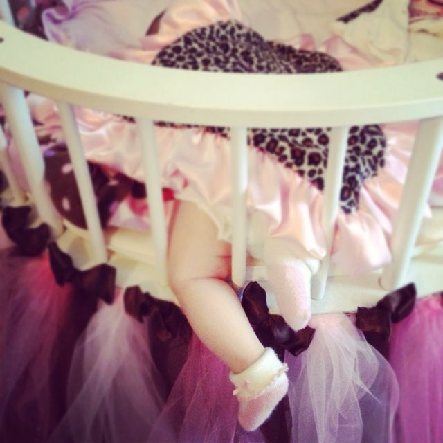 Pink & brown nursery, baby girl, newborn, cute